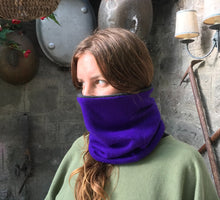 Load image into Gallery viewer, Reversible Snood - Purple / Charcoal