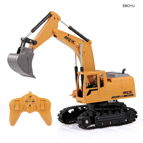 2.4Ghz 8CH 1:24 RC Mini Truck Excavator  Metal Alloy Toy for Kids  - EBOYU 3853
