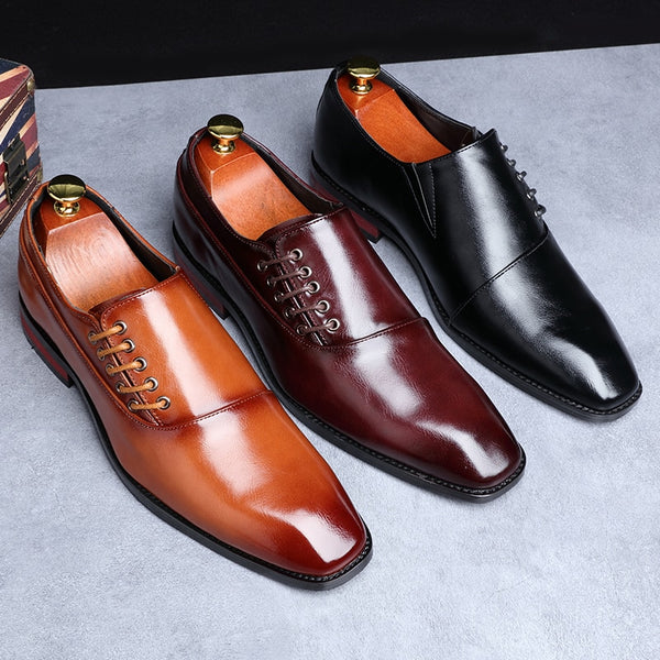 Formal Leather Men Shoes Business Plus Size - Misalwa-WH28
