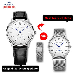 ultra-thin manual mechanical men's watch authentic top leather strap