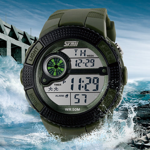 Men LED Digital Military Watch - Skmei-055