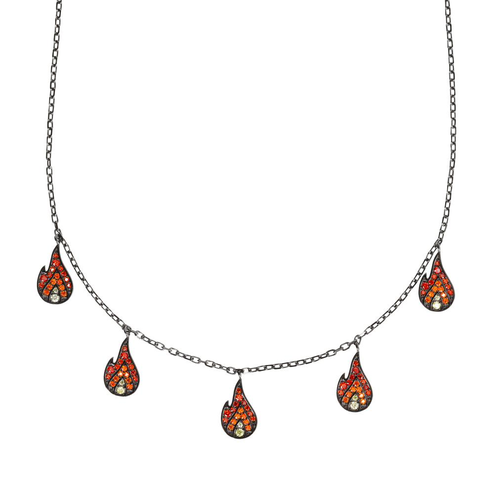 Flame Charm Necklace - laurieleestudio