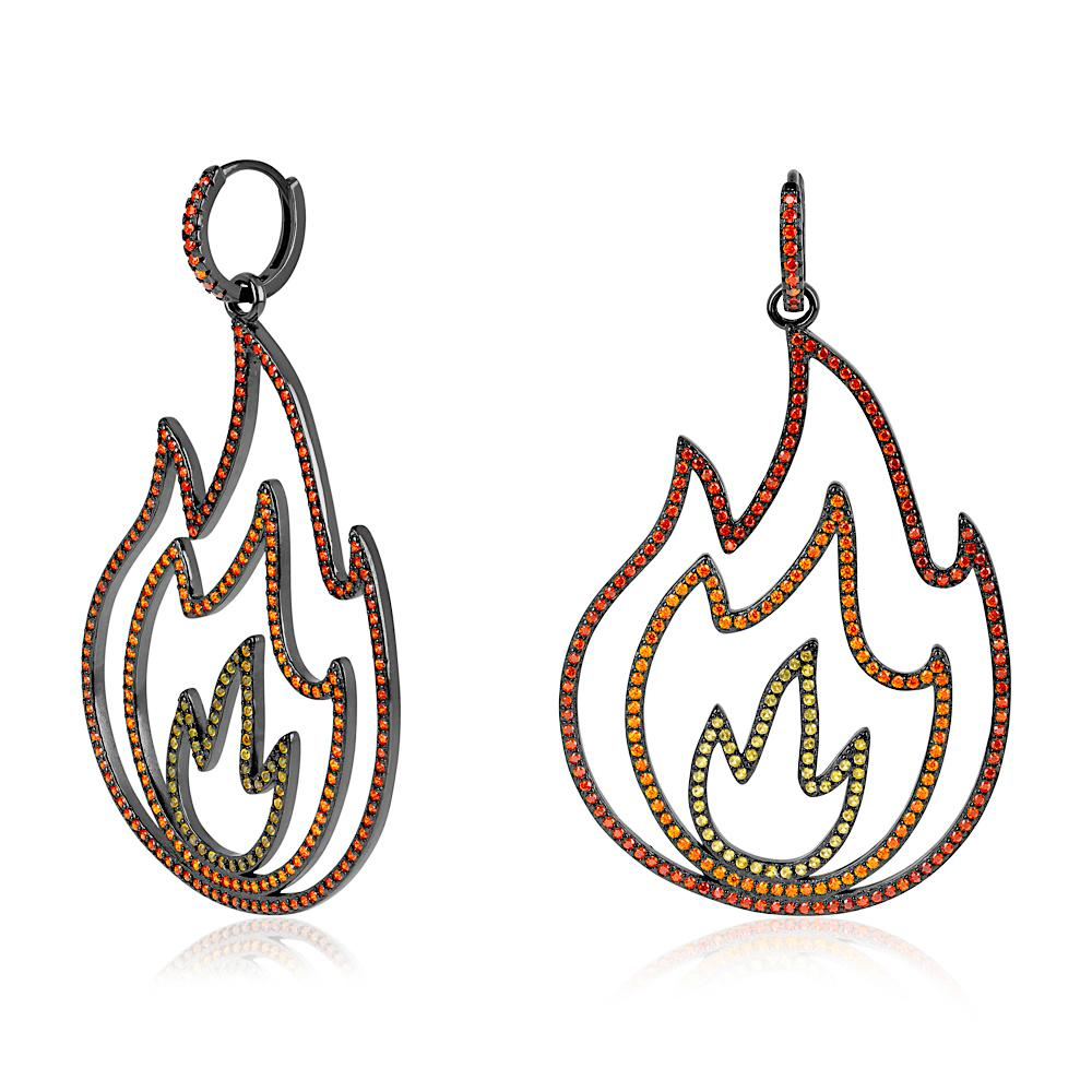 Flame Drop earrings - laurieleestudio