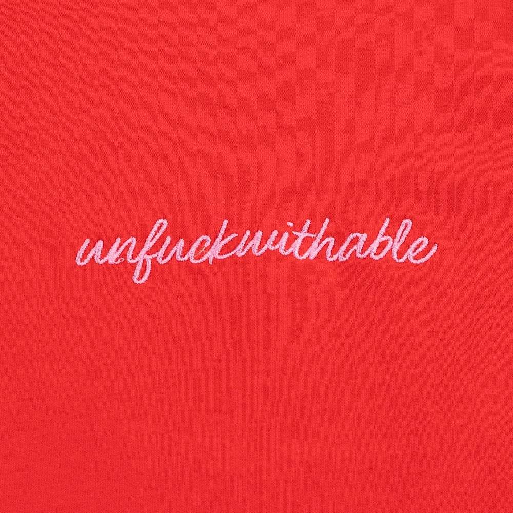 RED UNFUCKWITHABLE TEE - laurieleestudio