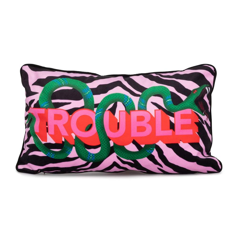 TROUBLE cushion - laurieleestudio