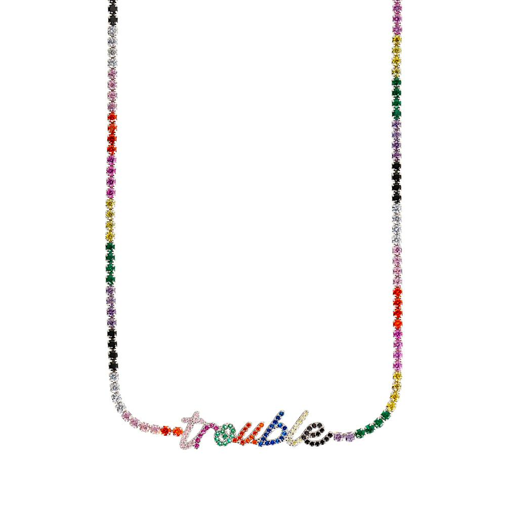 Trouble Rainbow Necklace - laurieleestudio