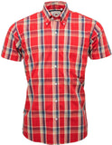 Shirt Check Burnt Orange Short Sleeve - Relco