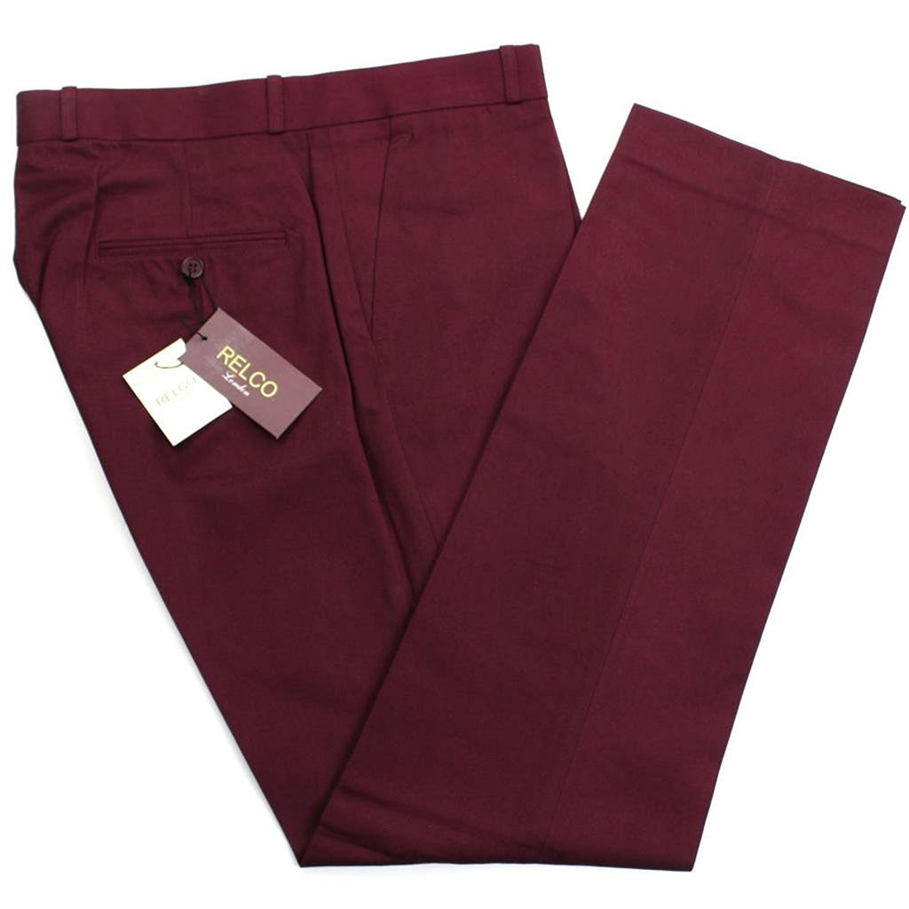 Sta Press Trousers Red Black Two Tone Tonic