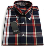 Shirt Black  Check Men's Short Sleeve - CXLondon.Com