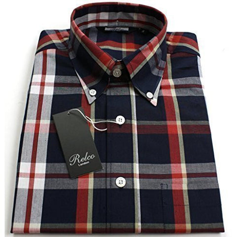 Shirt Black  Check Men's Short Sleeve