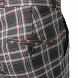 Black Tartan Trousers Sta Press