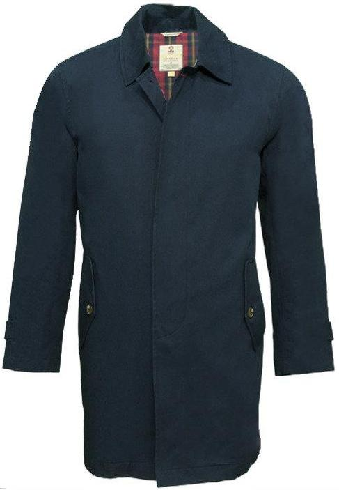 Mac Coat in Navy by Real Hoxton