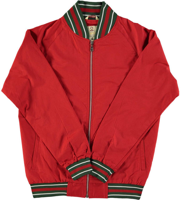Monkey Jacket Ferrari Red Vintage Bomber Design - Real Hoxton