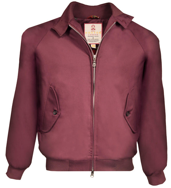 Harrington Jacket Burgundy classic  - Real Hoxton