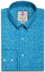 Shirt Floral Men's Turquoise - Real Hoxton