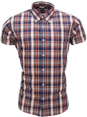 Shirt Multi Check Men's Short Sleeve