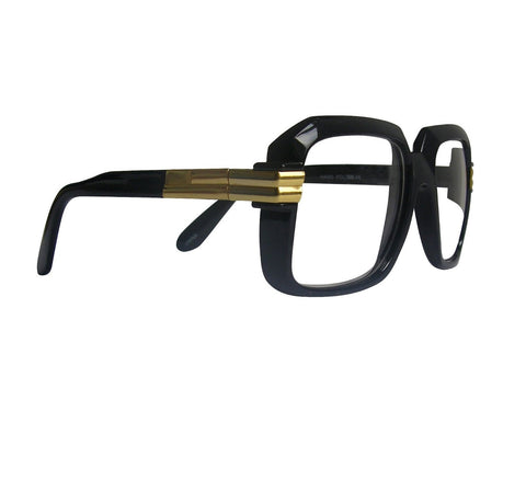 RUN DMC Style Glasses Clear Lenses Black