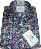 Shirt Paisley Men's Blue Red Stone Platinum Range - Relco