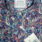 Shirt Paisley Men's Blue Red Stone Platinum Range - Relco - CXLondon.Com