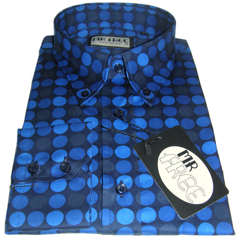 Shirt Polka Dot Blue Geometric Mr Free™