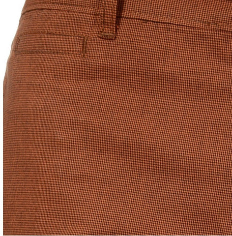 Trousers Rust Tapered Micro Check Chino Pants