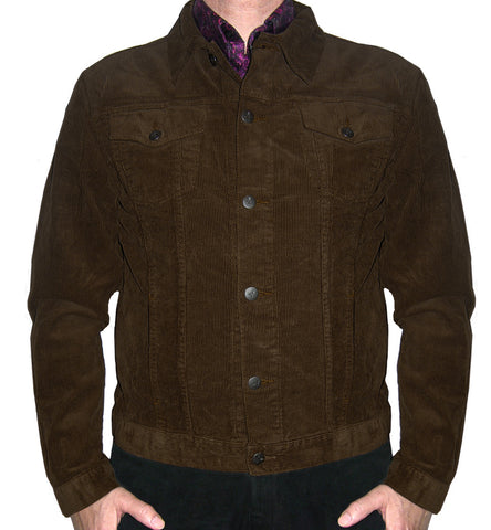Corduroy Jacket Classic 60's Style Brown