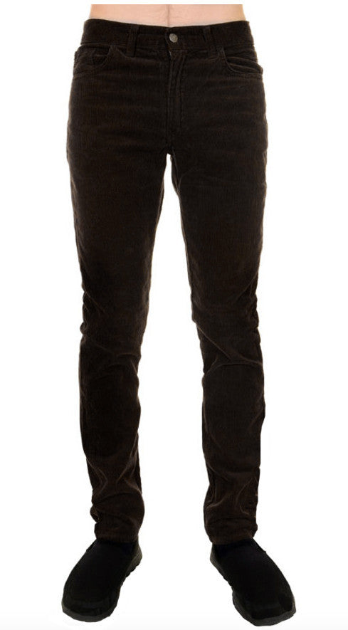 Mens Retro Vintage Black Corduroy Slim Fit Jeans