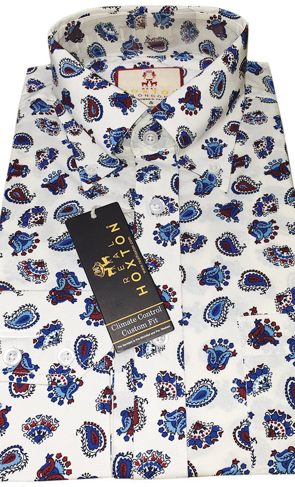 Shirt Paisley Men's Cream / Off White - Real Hoxton