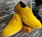 Desert Shoes Mustard Yellow Soft Suede Leather FRANKLIN by Ikon - CXLondon.Com