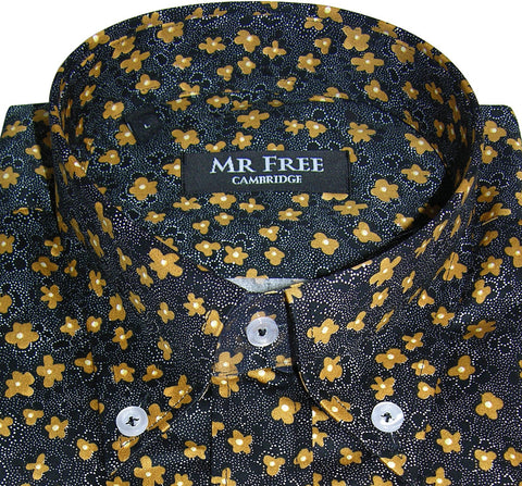 Shirt Gold Black Floral Men's Mr Free™