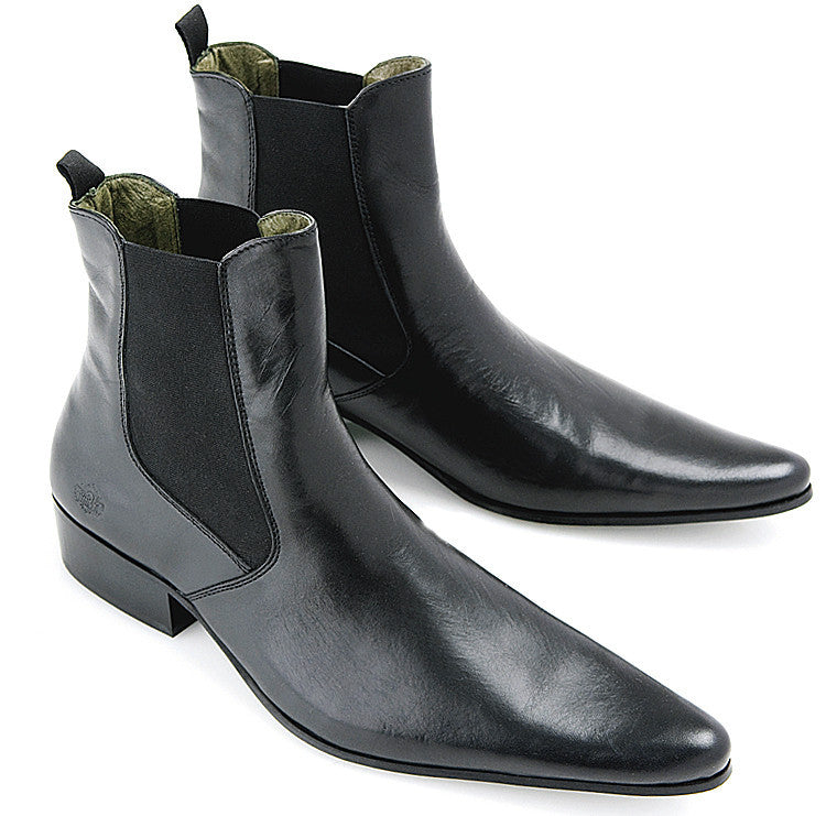 Shoes Revolver Black Chelsea Boots By Ikon - CXLondon.Com