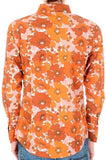 Shirt Psychedelic Mod Floral Burnt Orange by Run & Fly