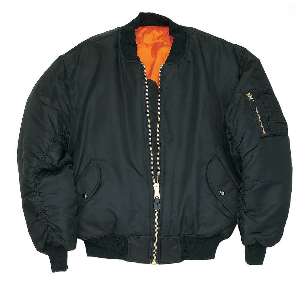 MA1 Flight Bomber Jacket Black - CXLondon.Com