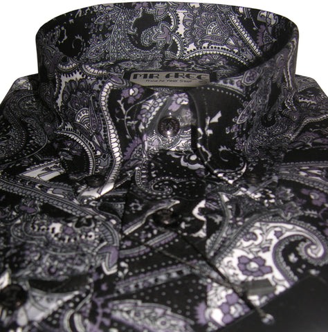 Shirt Black Paisley Men's Mr Free™