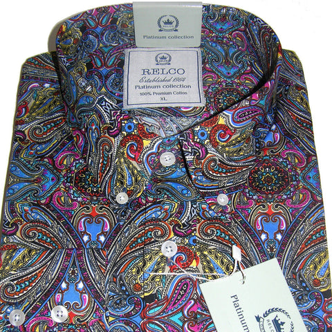 Shirt Psych Men's Multi Colour Platinum Range - Relco
