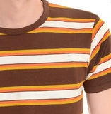 T Shirt Brown, Mustard, Burnt Orange Short  Sleeve
