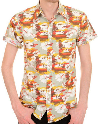Shirt Sunset Beach Hawaiian Shirt  Men's Short Sleeve