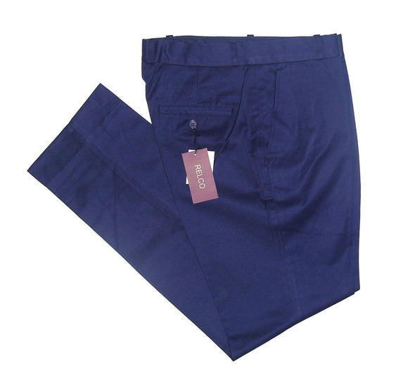 Sta Press Trousers Navy Blue - CXLondon.Com