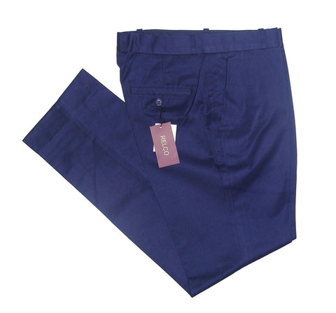 Sta Press Trousers Navy Blue