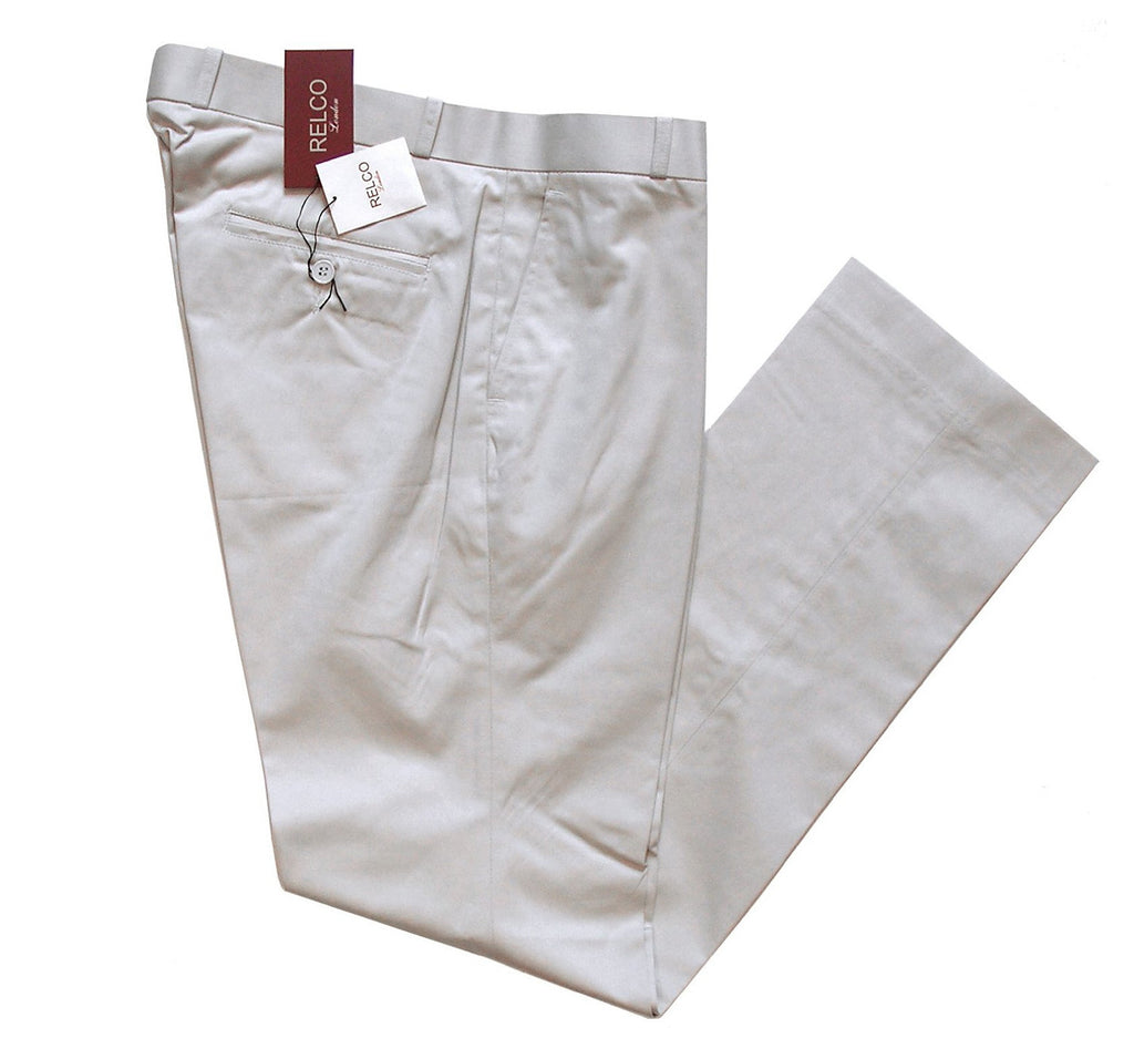 Sta Press Trousers Stone Relco