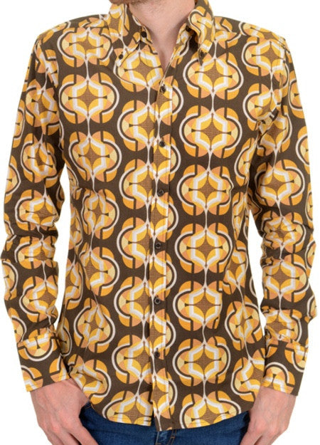Shirt 70s retro Geometric