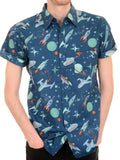Shirt Beam Me Up Retro Space Men's Short Sleeve