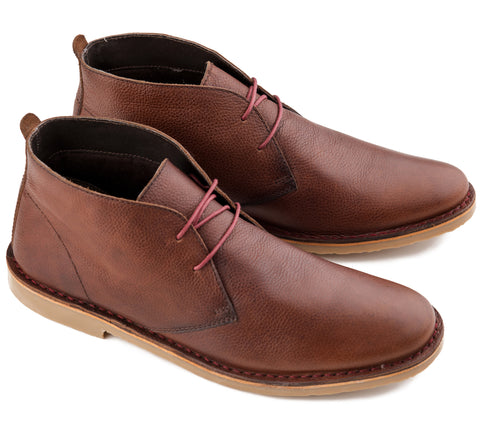 Desert Boots  – Luger -  Brown Leather by Ikon