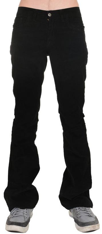 Mens Retro Vintage Black Corduroy Bootcut Flared Jeans