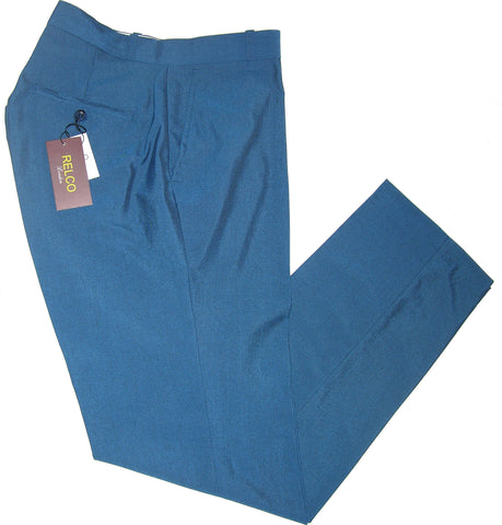 Sta Press Trousers Blue Black Two Tone Tonic