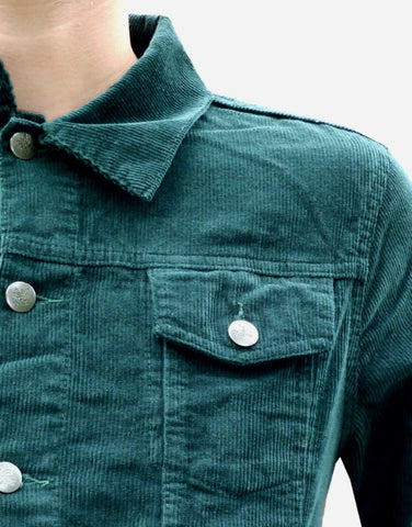 Corduroy Jacket Classic 60's Style Green