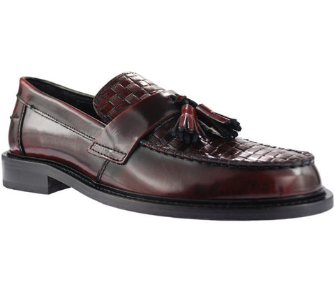 Shoes Men's Weaver Loafers Oxblood Mod Suedehead by Ikon