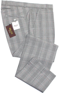 Sta Press Trousers Prince Of Wales Check - Relco