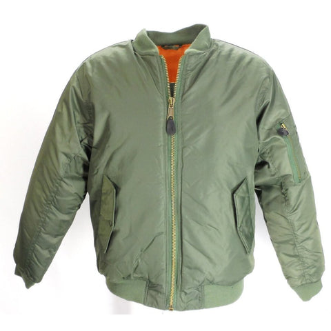 MA1 Flight Bomber Jacket Olive Green