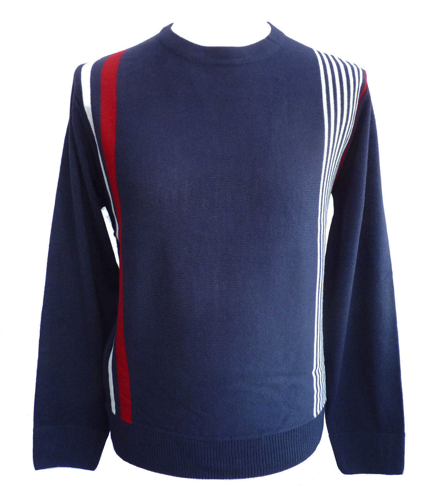 Jumper 60s Pop Art Racing Stripe Fine Knit - CXLondon.Com